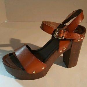 Mossimo Ankle Strap Open Toe Block Heels Sandal 9
